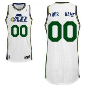 Utah Jazz Authentic Personnalisé Home Maillot d'équipe de NBA - Blanc pour Enfants