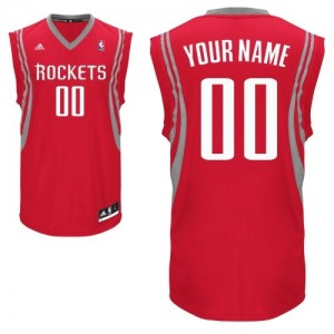Houston Rockets Swingman Personnalisé Road Maillot d'équipe de NBA - Rouge pour Enfants