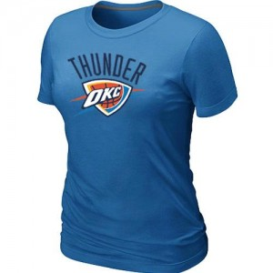 T-shirt principal de logo Oklahoma City Thunder NBA Big & Tall Bleu clair - Femme