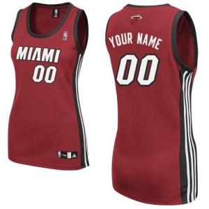 Maillot NBA Miami Heat Personnalisé Authentic Rouge Adidas Alternate - Femme