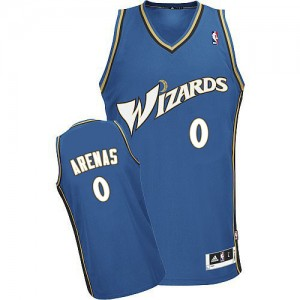 Maillot NBA Washington Wizards #0 Gilbert Arenas Bleu Adidas Swingman - Homme