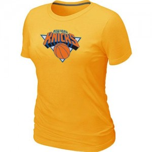 T-shirt principal de logo New York Knicks NBA Big & Tall Jaune - Femme