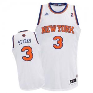 New York Knicks #3 Adidas Home Blanc Swingman Maillot d'équipe de NBA pas cher en ligne - John Starks pour Homme