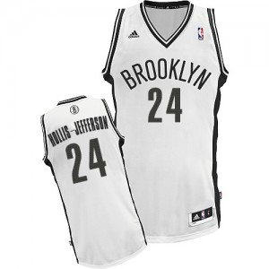 Maillot NBA Brooklyn Nets #24 Rondae Hollis-Jefferson Blanc Adidas Swingman Home - Homme