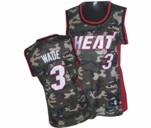 Maillot NBA Authentic Dwyane Wade #3 Miami Heat Stealth Collection Camo - Femme