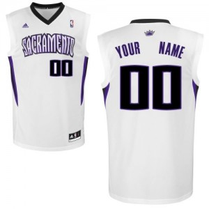 Maillot NBA Swingman Personnalisé Sacramento Kings Home Blanc - Enfants