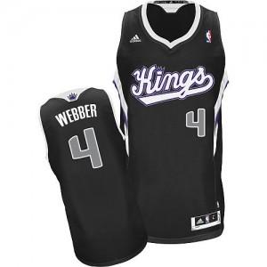 Sacramento Kings #4 Adidas Alternate Noir Swingman Maillot d'équipe de NBA la vente - Chris Webber pour Homme