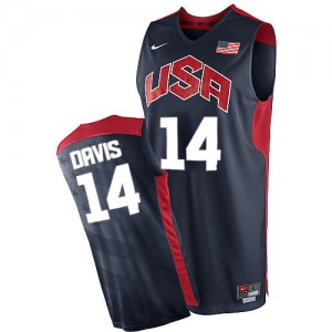 Maillot NBA Bleu marin Anthony Davis #14 Team USA 2012 Olympics Authentic Homme Nike