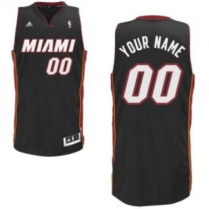 Miami Heat Personnalisé Adidas Road Noir Maillot d'équipe de NBA Remise - Swingman pour Homme