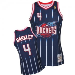Maillot NBA Authentic Charles Barkley #4 Houston Rockets Hardwood Classic Fashion Bleu marin - Homme