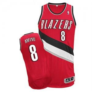 Portland Trail Blazers #8 Adidas Alternate Rouge Authentic Maillot d'équipe de NBA en soldes - Al-Farouq Aminu pour Homme