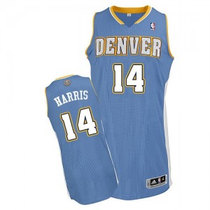 Maillot NBA Bleu clair Gary Harris #14 Denver Nuggets Road Authentic Homme Adidas