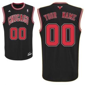 Chicago Bulls Personnalisé Adidas Alternate Noir Maillot d'équipe de NBA Prix d'usine - Swingman pour Enfants