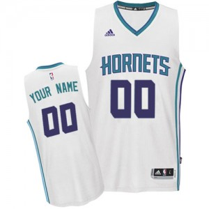 Charlotte Hornets Authentic Personnalisé Home Maillot d'équipe de NBA - Blanc pour Femme