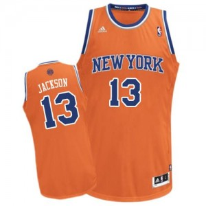 Maillot NBA New York Knicks #13 Mark Jackson Orange Adidas Swingman Alternate - Homme