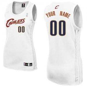 Maillot Adidas Blanc Home Cleveland Cavaliers - Authentic Personnalisé - Femme