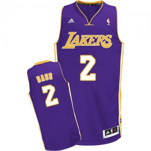 Maillot Adidas Violet Road Swingman Los Angeles Lakers - Brandon Bass #2 - Homme