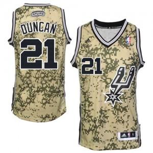 Maillot Authentic San Antonio Spurs NBA Camo - #21 Tim Duncan - Homme