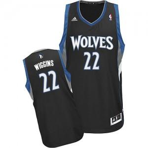 Minnesota Timberwolves Andrew Wiggins #22 Alternate Swingman Maillot d'équipe de NBA - Noir pour Homme