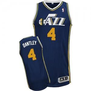Utah Jazz #4 Adidas Road Bleu marin Authentic Maillot d'équipe de NBA préférentiel - Adrian Dantley pour Homme