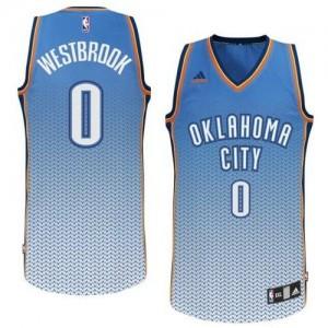 Maillot NBA Swingman Russell Westbrook #0 Oklahoma City Thunder Resonate Fashion Bleu - Homme