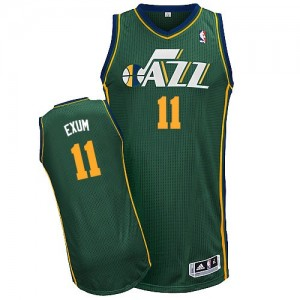 Maillot Adidas Vert Alternate Authentic Utah Jazz - Dante Exum #11 - Homme