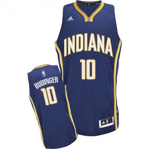 Maillot NBA Swingman Chase Budinger #10 Indiana Pacers Road Bleu marin - Homme
