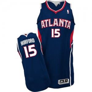 Maillot Authentic Atlanta Hawks NBA Road Bleu marin - #15 Al Horford - Homme