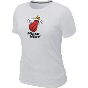 Miami Heat Big & Tall Blanc T-Shirts d'équipe de NBA Prix d'usine - pour Femme