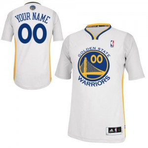Maillot NBA Authentic Personnalisé Golden State Warriors Alternate Blanc - Enfants