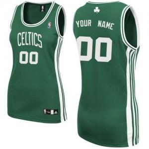 Maillot NBA Boston Celtics Personnalisé Authentic Vert (No Blanc) Adidas Road - Femme