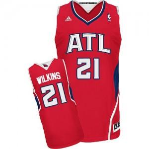Maillot NBA Swingman Dominique Wilkins #21 Atlanta Hawks Alternate Rouge - Homme
