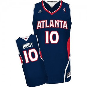 Maillot Adidas Bleu marin Road Swingman Atlanta Hawks - Mike Bibby #10 - Homme