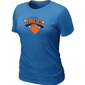 T-Shirts NBA Bleu clair New York Knicks Big & Tall Femme