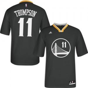 Golden State Warriors #11 Adidas Alternate Noir Authentic Maillot d'équipe de NBA Soldes discount - Klay Thompson pour Femme