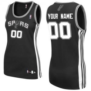 Maillot NBA San Antonio Spurs Personnalisé Authentic Noir Adidas Road - Femme