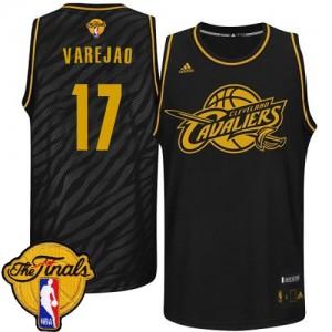 Cleveland Cavaliers Anderson Varejao #17 Precious Metals Fashion 2015 The Finals Patch Authentic Maillot d'équipe de NBA - Noir pour Homme
