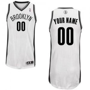 Brooklyn Nets Personnalisé Adidas Home Blanc Maillot d'équipe de NBA Magasin d'usine - Authentic pour Homme