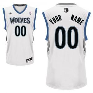 Maillot NBA Blanc Swingman Personnalisé Minnesota Timberwolves Home Homme Adidas