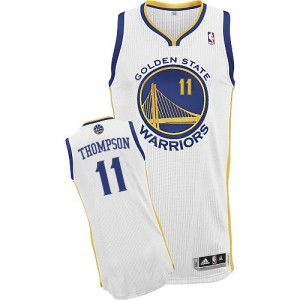 Maillot NBA Blanc Klay Thompson #11 Golden State Warriors Home Authentic Femme Adidas
