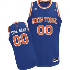 Maillot NBA New York Knicks Personnalisé Swingman Bleu royal Adidas Road - Homme