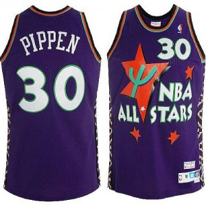 Chicago Bulls #30 Adidas Throwback 1995 All Star Violet Authentic Maillot d'équipe de NBA Peu co?teux - Scottie Pippen pour Homme