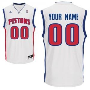Maillot NBA Detroit Pistons Personnalisé Swingman Blanc Adidas Home - Enfants