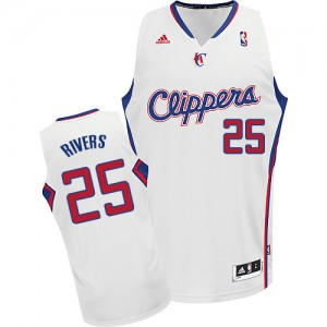 Los Angeles Clippers Austin Rivers #25 Home Swingman Maillot d'équipe de NBA - Blanc pour Homme