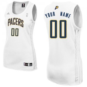 Maillot Adidas Blanc Home Indiana Pacers - Swingman Personnalisé - Femme