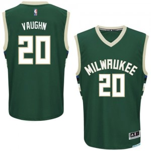 Maillot Authentic Milwaukee Bucks NBA Road Vert - #20 Rashad Vaughn - Homme