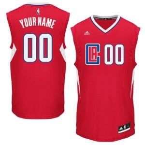 Maillot NBA Rouge Authentic Personnalisé Los Angeles Clippers Road Enfants Adidas