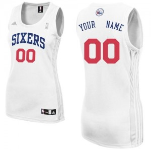 Maillot Philadelphia 76ers NBA Home Blanc - Personnalisé Swingman - Femme