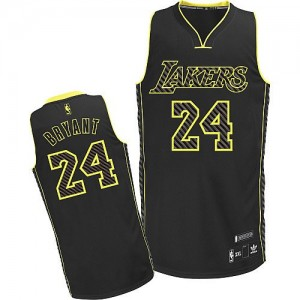 Maillot Authentic Los Angeles Lakers NBA Electricity Fashion Noir - #24 Kobe Bryant - Homme