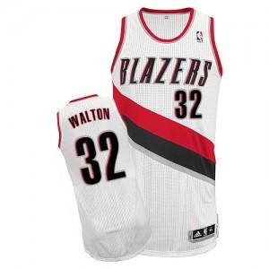 Portland Trail Blazers Bill Walton #32 Home Authentic Maillot d'équipe de NBA - Blanc pour Homme